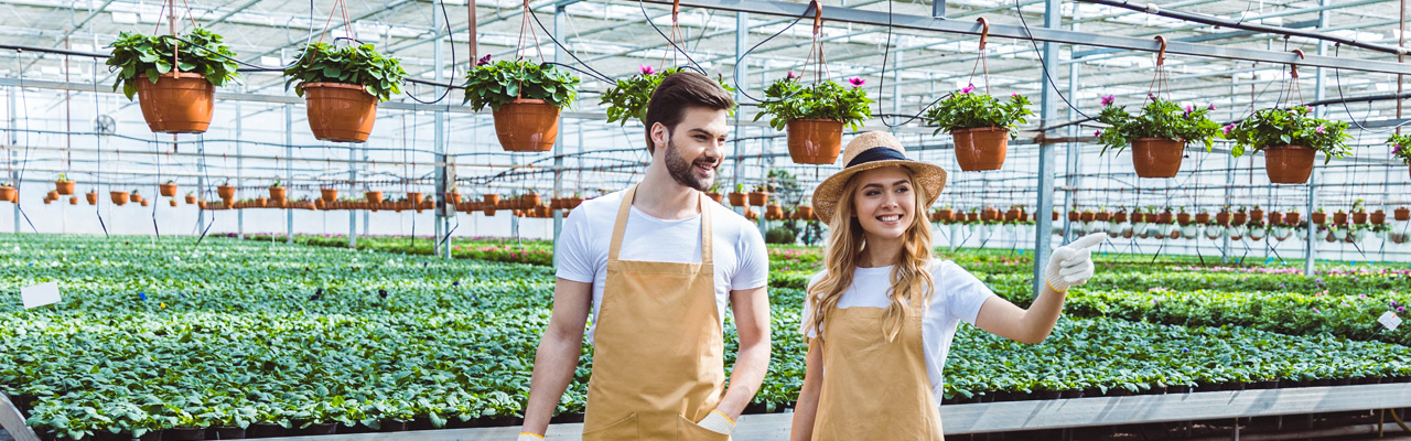 college kids in horticulture study