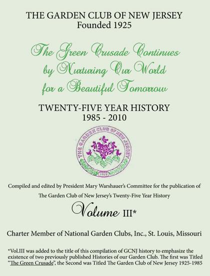 GCNJ 25 Year History 1985-2011